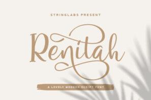 Renitah - Lovely Script Font