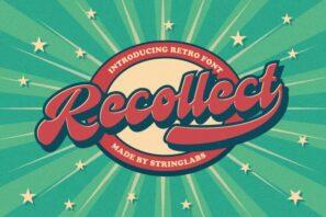 Recollet - Retro Bold Script Font