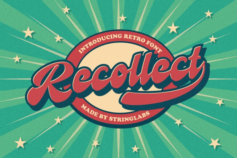 Preview image of Recollet – Retro Bold Script Font