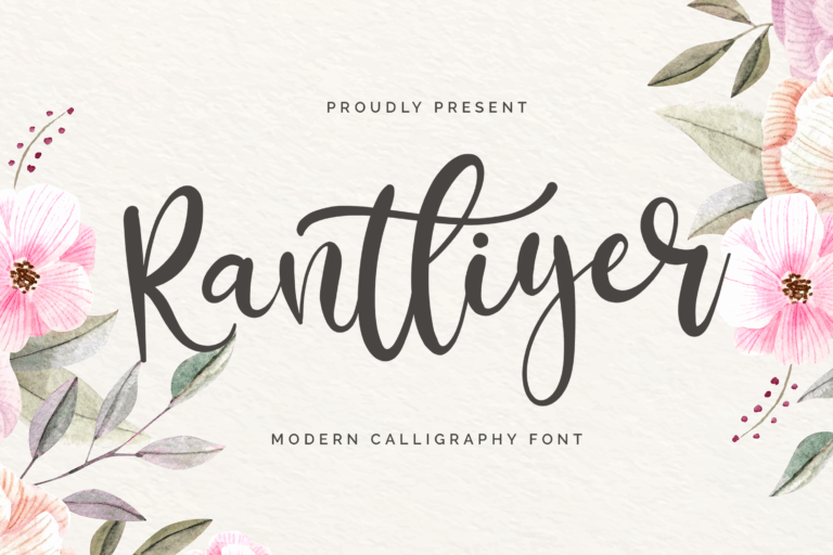 Preview image of Rantliyer – Calligraphy Font