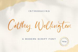 Catthy Wellingten - Modern Script Font