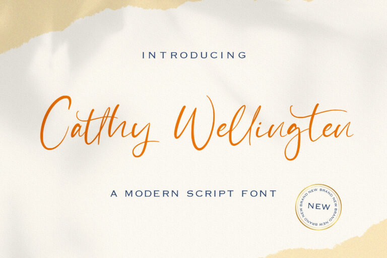 Preview image of Catthy Wellingten – Modern Script Font