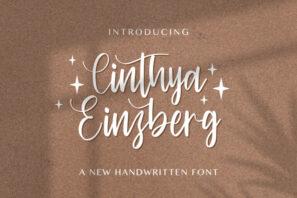 Cinthya Einzberg - Handwritten Font