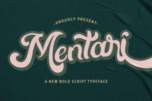 Mentari - Bold Script Font