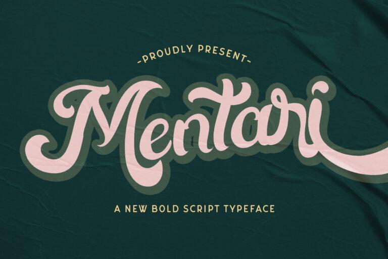 Preview image of Mentari – Bold Script Font