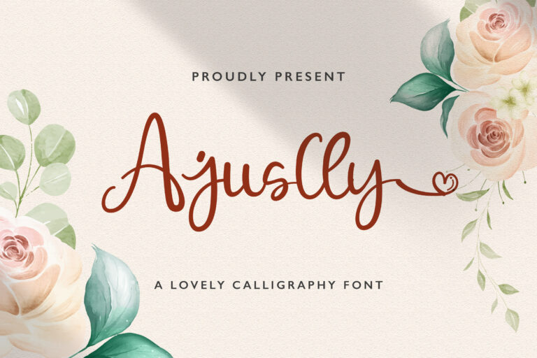 Preview image of Ajuslly – Modern Calligraphy Font