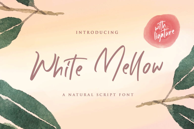 Preview image of White Mellow – Handwritten Script Font