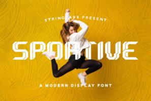 Sportive - Modern Display Font