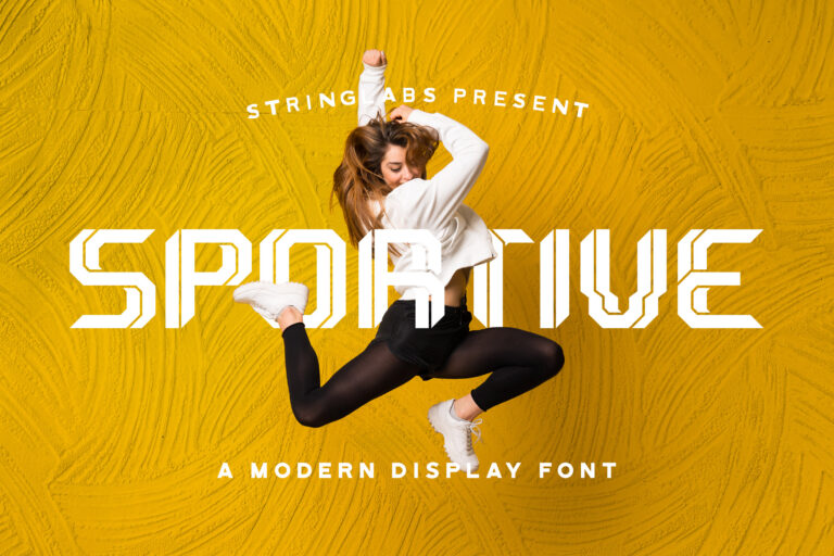 Preview image of Sportive – Modern Display Font