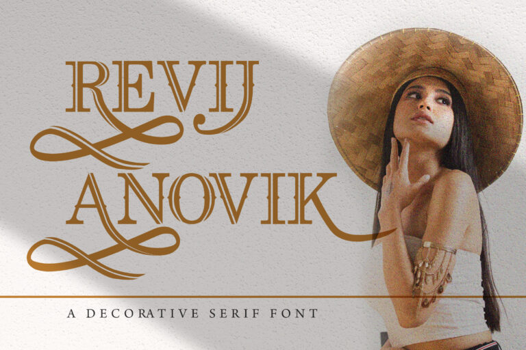 Preview image of Revij Anovik – Decorative Serif Font