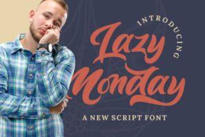 Lazy Monday - Bold Script Font