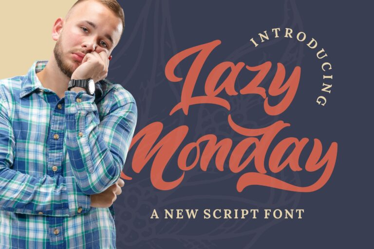 Preview image of Lazy Monday – Bold Script Font