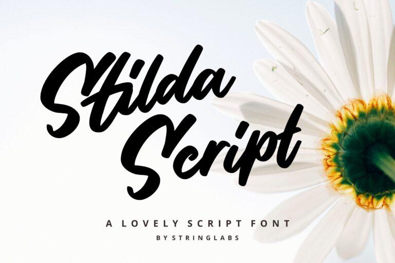 Preview image of Stilda – Script Font