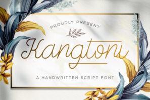 Kangtoni - Monoline Script Font