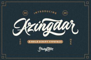 Azingdar - Retro Bold Script Font