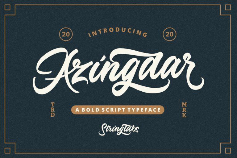 Preview image of Azingdar – Retro Bold Script Font