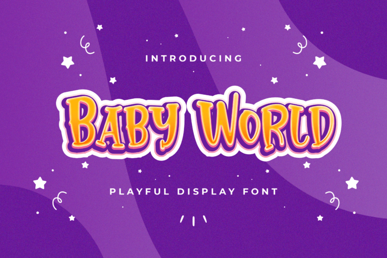 Preview image of Baby World – Playful Display Font