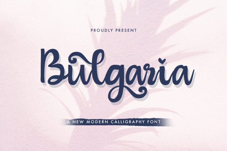 Preview image of Bulgaria – Modern Calligraphy Font