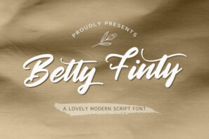 Betty Finty - Modern Script Font