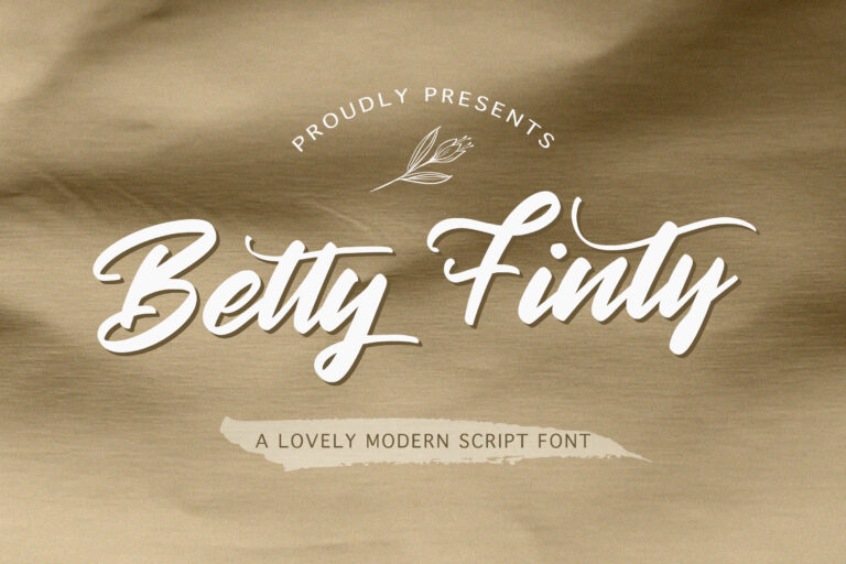 Preview image of Betty Finty – Modern Script Font