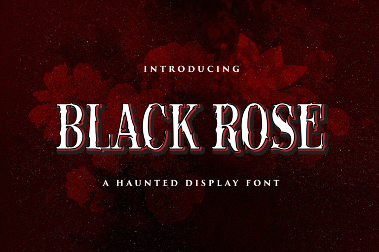 Preview image of Black Rose – Haunted Display Font