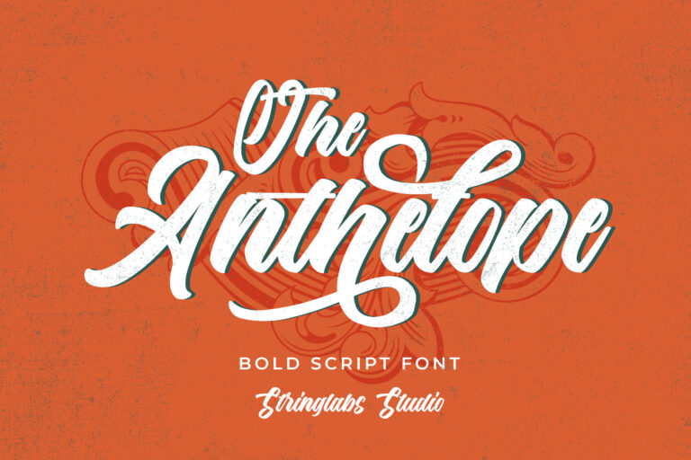 Preview image of The Anthelope – Retro Bold Script Font