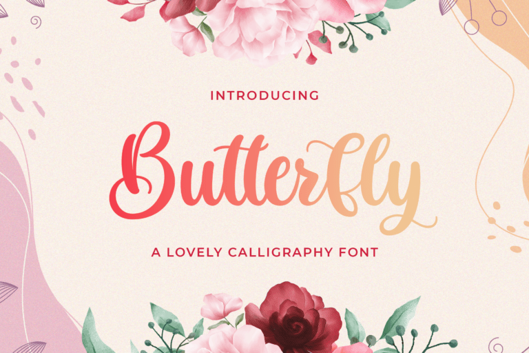 Preview image of Butterfly – Lovely Calligraphy Font