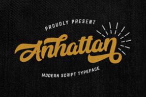 Anhattan - Retro Bold Script Font