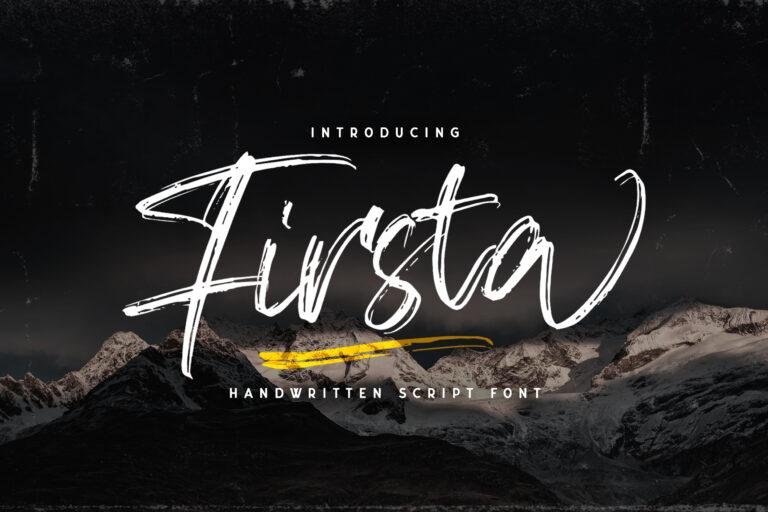 Preview image of Firsta – Handwritten Font