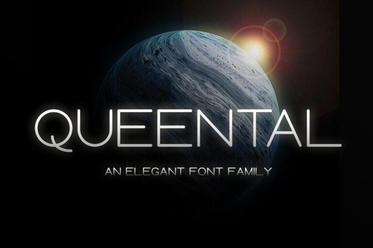 Preview image of Queental – Elegant Sans Font Family