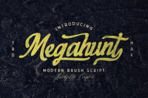 Megahunt - Brush Script Font