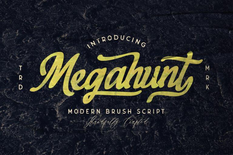 Preview image of Megahunt – Brush Script Font