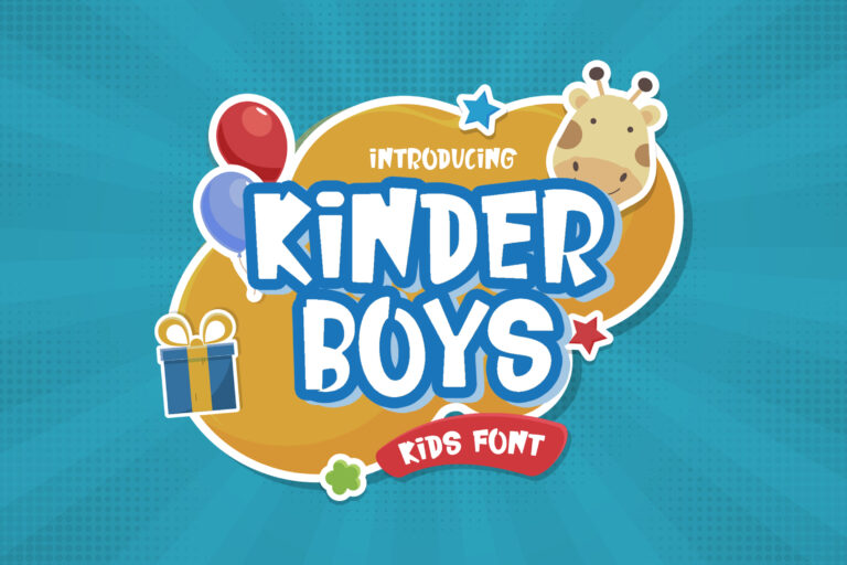 Preview image of Kinder Boys – Playful Font