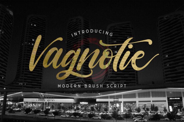 Preview image of Vagnotie – Modern Brush Font
