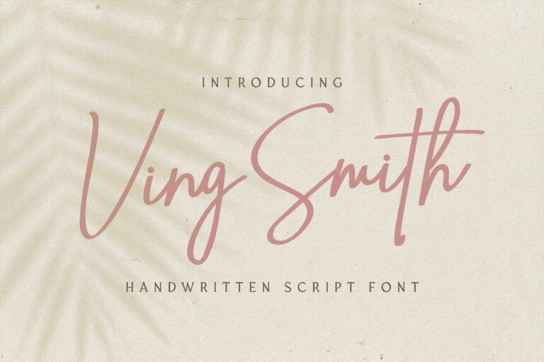 Preview image of Ving Smith – Handwritten Font