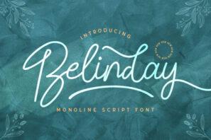 Belinday - Monoline Script Font