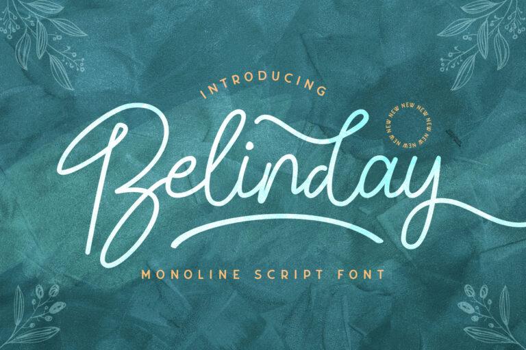 Preview image of Belinday – Monoline Script Font