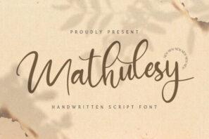 Mathulesy - Handwritten Font