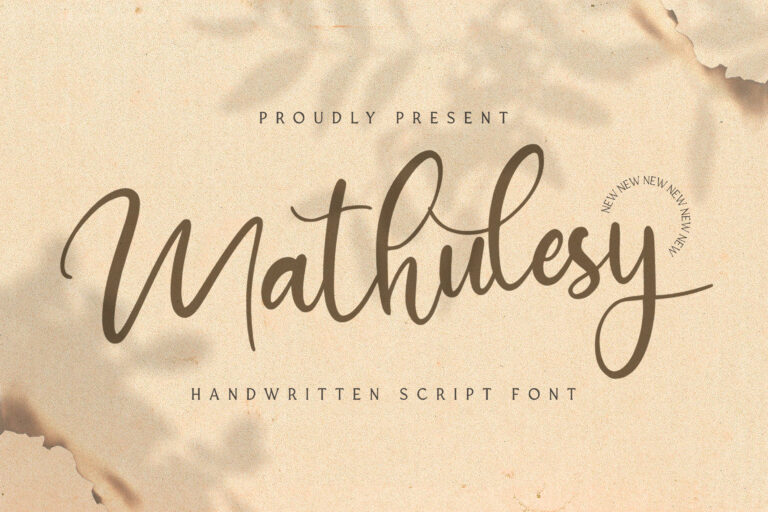 Preview image of Mathulesy – Handwritten Font