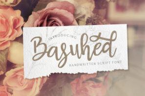 Basuhed - Handwritten Font