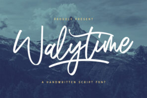 Walytime - Handwritten Font