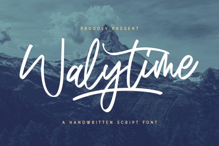 Preview image of Walytime – Handwritten Font