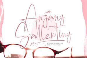 Anjany Sallentiny - Handwritten Font