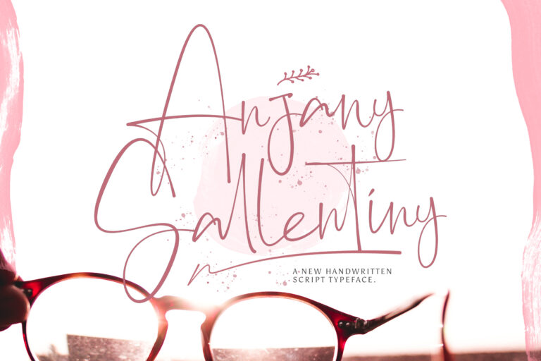 Preview image of Anjany Sallentiny – Handwritten Font