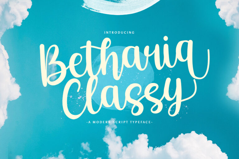 Preview image of Betharia Classy – Modern Script Font