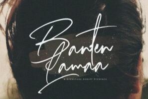 Banten Lama - Signature Script Font
