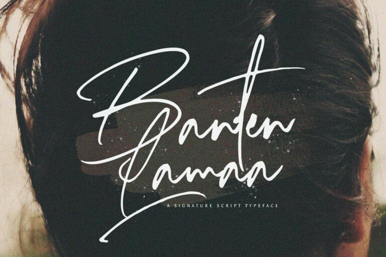 Preview image of Banten Lama – Signature Script Font