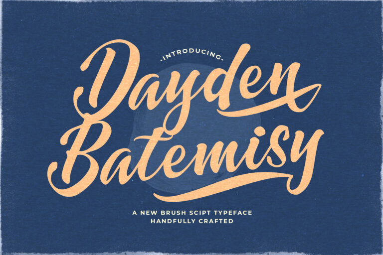 Preview image of Dayden Batemisy – Brush Script Font