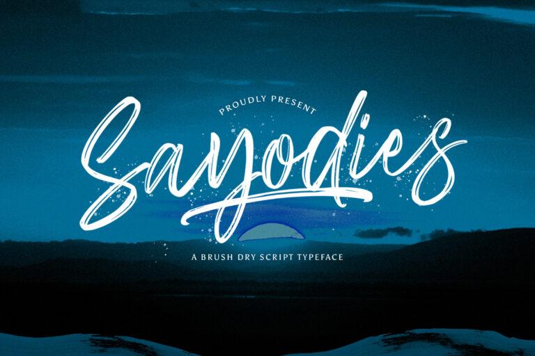 Preview image of Sayodies – Handbrush Script Font