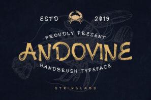 Andovine - Handbrush Font